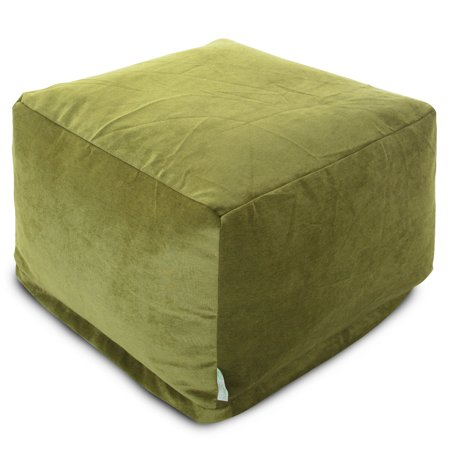 Majestic Home Goods Indoor Micro Velvet Apple Villa Ottoman Pouf ()