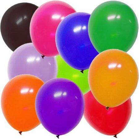 Exquisite 100 ct 12 Inch Latex Balloons - Bulk 100 Pack - Colorful Birthday Party Balloons - Assorted colors