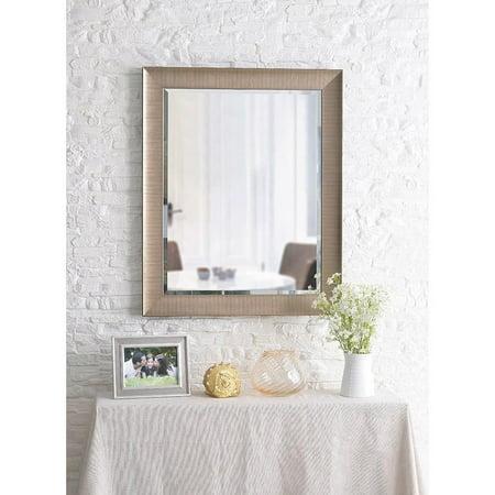 Design Craft Perignon 32 Wall Mirror Brushed Champagne Walmart Com