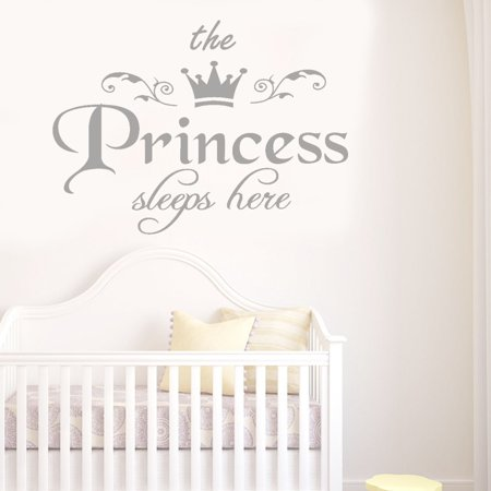 Hibetterlife The Princess Decal Living Room Bedroom Vinyl Carving Wall Decal Sticker