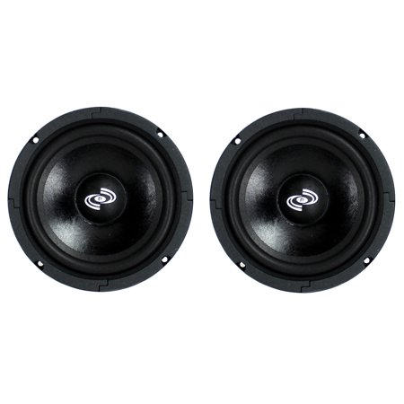 2) Pyle Pro 8 Inch 360 Watt 8-Ohm Black Driver Mid Range Audio Speakers | PDMR8 ()