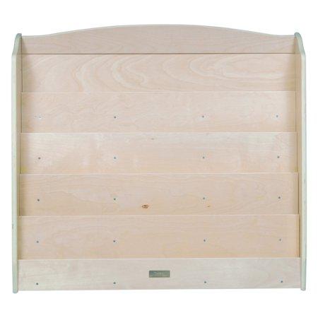 Guidecraft Kids Book Rack, 5-Shelf Sturdy Wood, Natural (Natural Kids Bedroom Furniture)