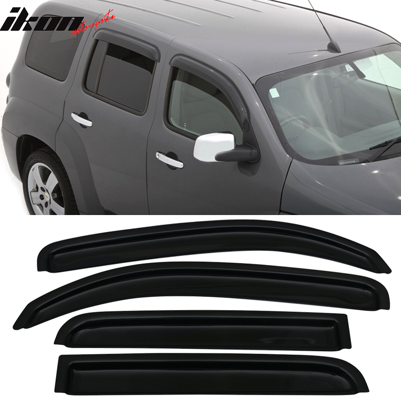Fits 06-11 Chevy HHR Sedan In Channel Style Acrylic Window Visors 4Pc Set
