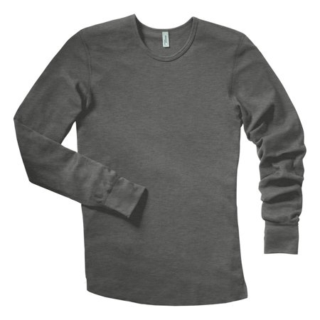 Flag Thermal Shirt - District Threads Men's Long Sleeve Ring Spun Thermal T-Shirt