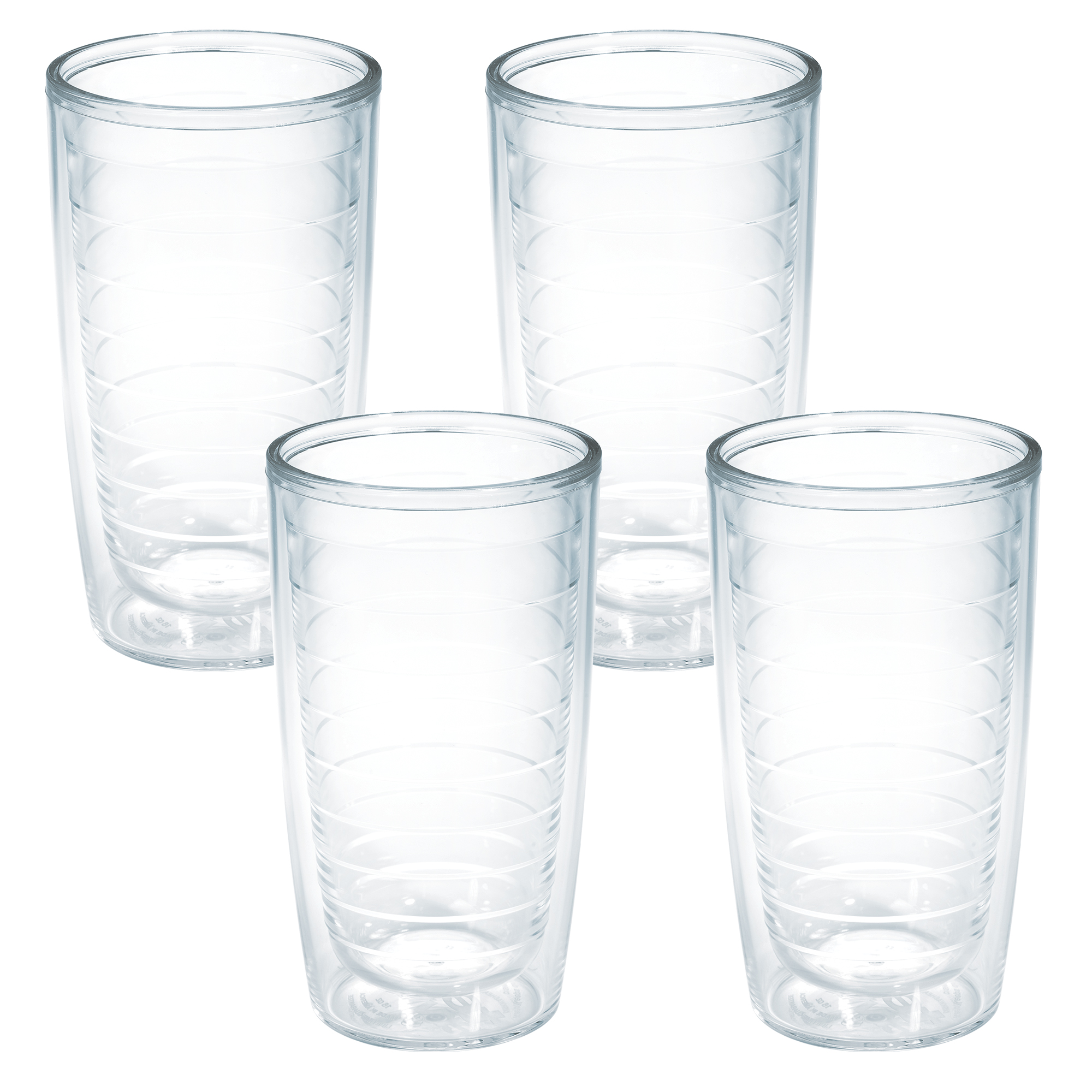 16 oz Tritan Assorted Tervis 1037267 Clear /& Colorful Insulated Tumbler 4 Pack Boxed