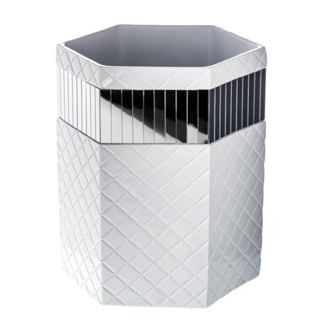 Quilted Mirror Bathroom Trash Can 8 1 X 7 9 Decorative
