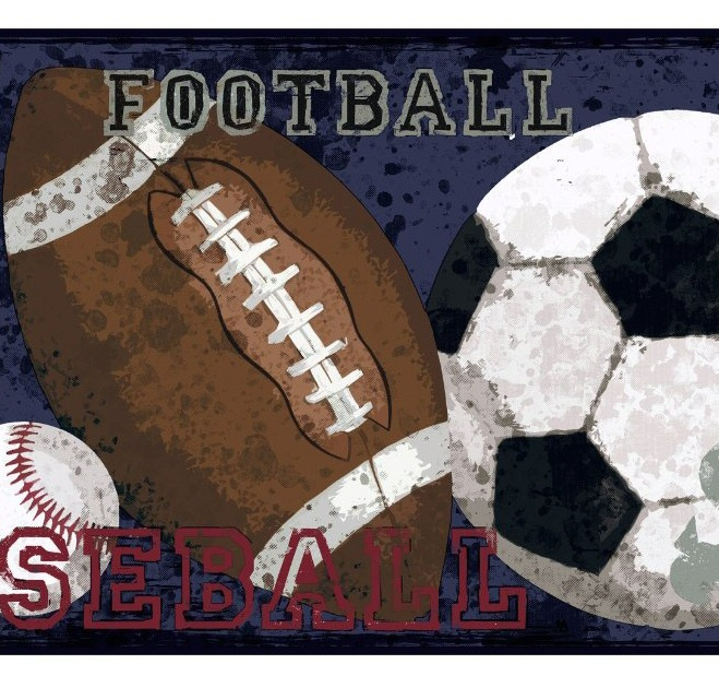 878716 Vintage Sports Wallpaper Border MP4996b CK7623b