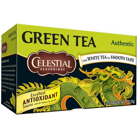 Authentic Tea ((2 Pack) Celestial Seasonings Green Tea, Authentic, 20 Count )