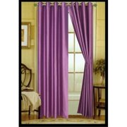 Editex 627V8406 84 in. Elaine Faux Silk Panel with Grommets in Lilac