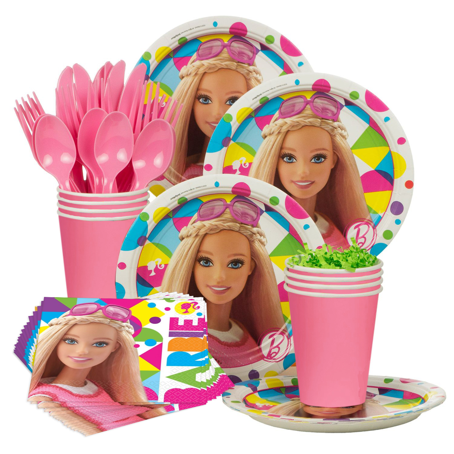 Barbie Sparkle Standard Birthday Party Tableware Kit - Party Supplies