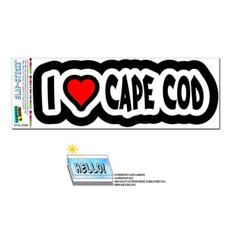 I Love Heart Cape Cod - Massachusetts SLAP-STICKZ(TM) Premium