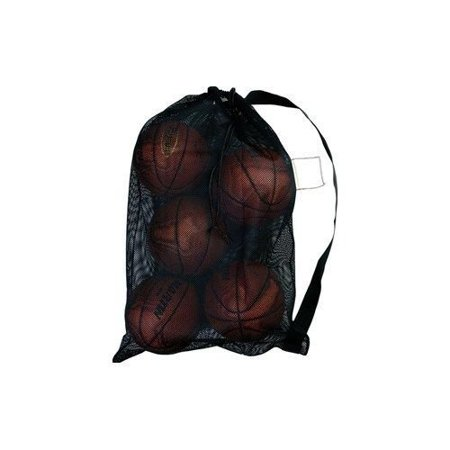 Martin All Purpose Mesh Ball Equipment Bag - Basketball; Soccer; Football- Black, Large 24/36 Equipment/Ball Bag Heavy Drawstring With Plastic Lock Closure I.D. Tag By Unknown