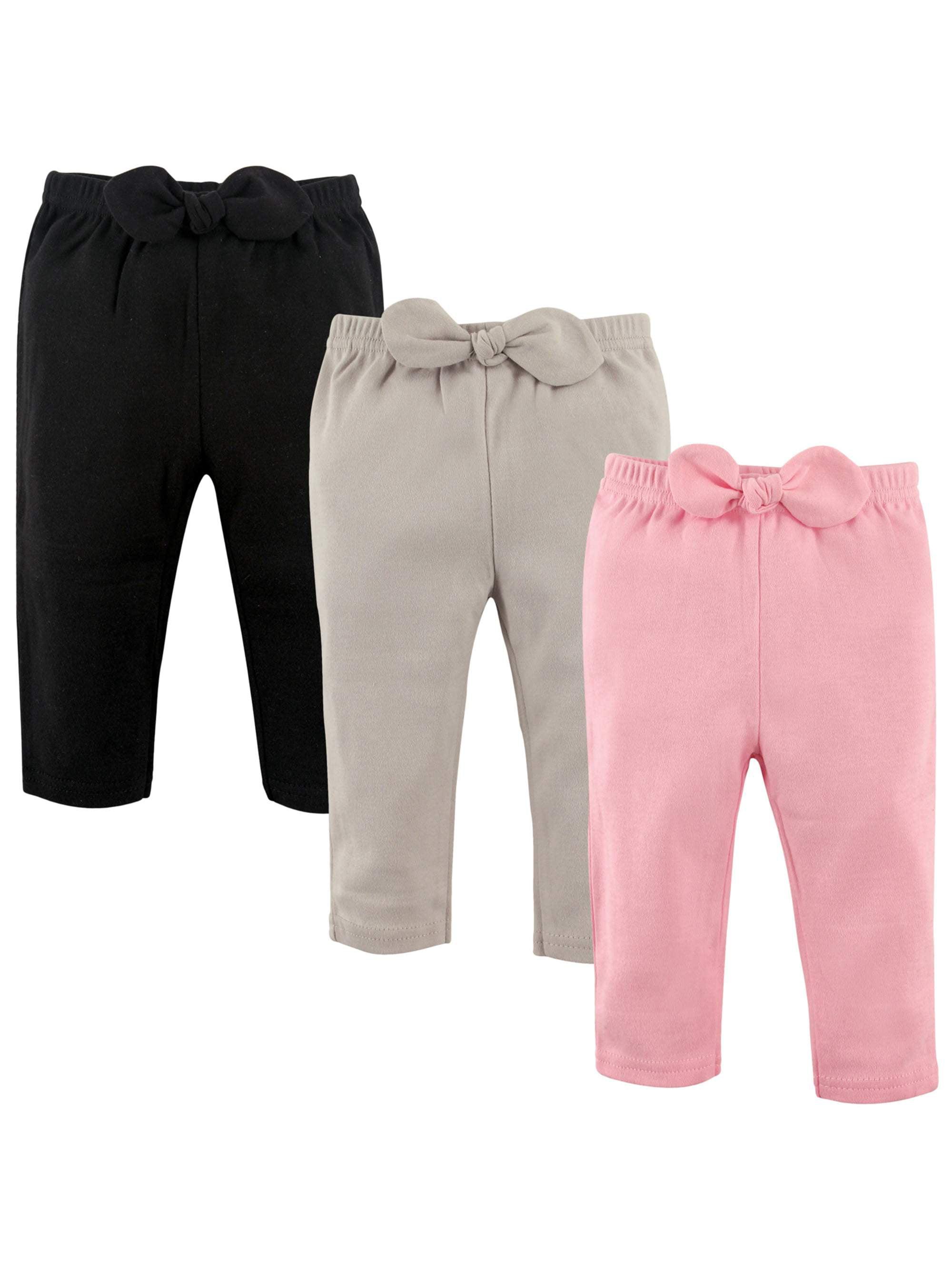 Newborn Baby Girls' Gathered Pants 3-Pack