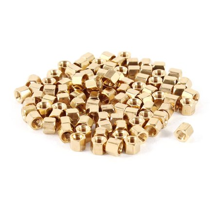 Computer Motherboard M3x4 M3 Female Threaded Bolts Brass Standoff Spacer 100 Pcs - image 2 of 2