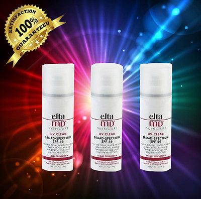 ELTA UV Clear Broad-Spectrum SPF 46 Facial Sunscreen 1.7 oz, (3-Pack)