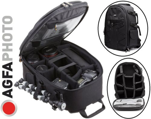 Agfaphoto Large Backpack Case Camera Bag For Sony Canon Samsung Nikon Panasonic Pentax Camera Camcorder by Agfaphoto