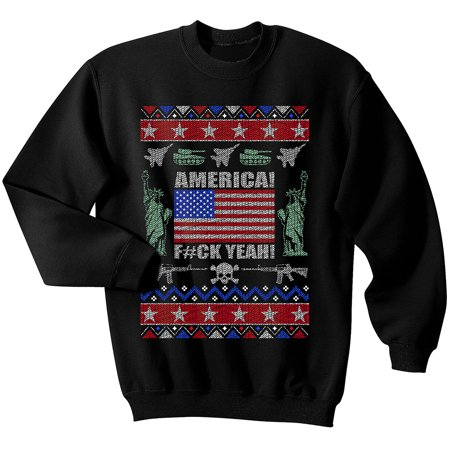 USA Ugly Christmas Sweater, America pride, American, Patriotic, Marines, Army (American Eagle Outfitters Sweater)