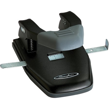 Paper Pro Hole Punch - Swingline, SWI74050, Comfort Handle 2-Hole Punches, 1 Each, Black,Gray