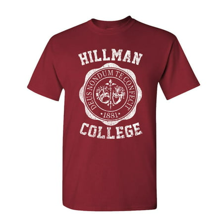 HILLMAN COLLEGE - retro 80s sitcom tv - Cotton Unisex (50 Retro Clothes)