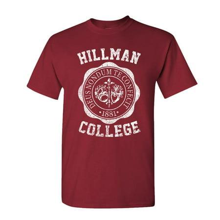 HILLMAN COLLEGE - retro 80s sitcom tv - Cotton Unisex - College Tee Shirts
