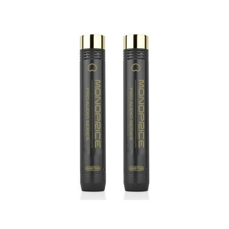MONOPRICE Small-Diaphragm Condenser Microphones (Pair) (Small Diaphragm Tube Condenser)