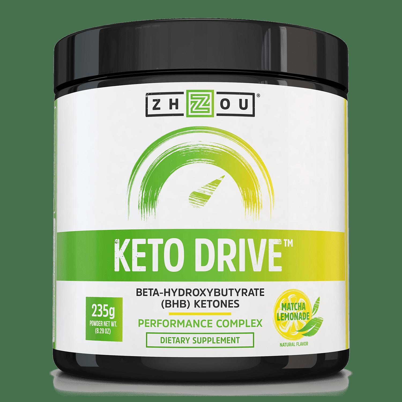 Zhou Nutrition Keto Drive (BHB) Ketones Lemon, 8.29 Oz