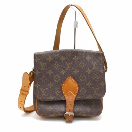 5a6c313e78 PRE-OWNED Cartouchiere Monogram Mm 869528 Brown Coated Canvas Cross Body Bag  - Walmart.com