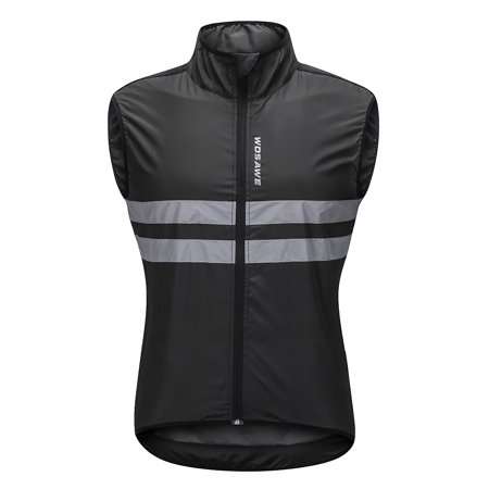 Sleeveless Bike Jersey - Wosawe Sleeveless Cycling Jersey Windproof Breathable MTB Bike Riding Top Sports Jacket for Men and Women