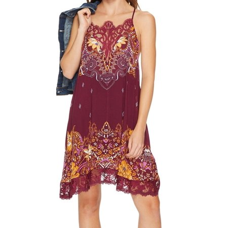 Free People Womens Who's Sorry Now Shift Slip Dress
