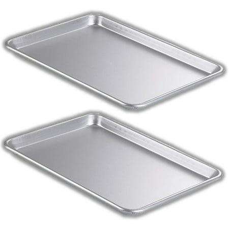 2 Piece Bakeware Set – 2 Aluminum Sheet Pan, (Stainless Steel) – Half Size (13