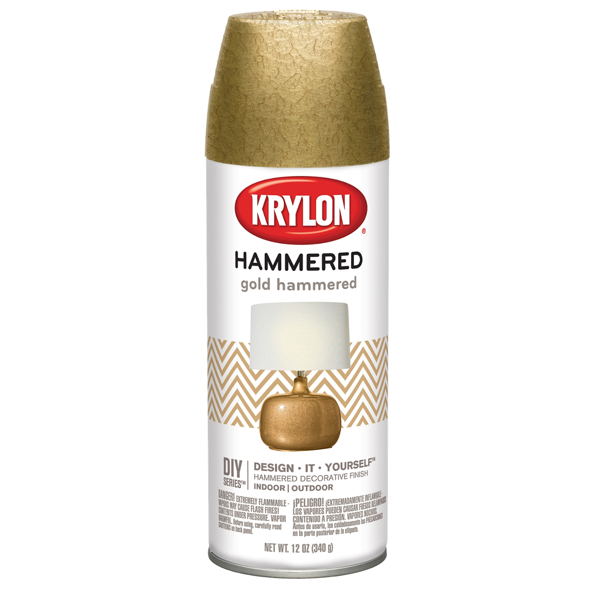 Hammered Finish Paint 12oz-Gold