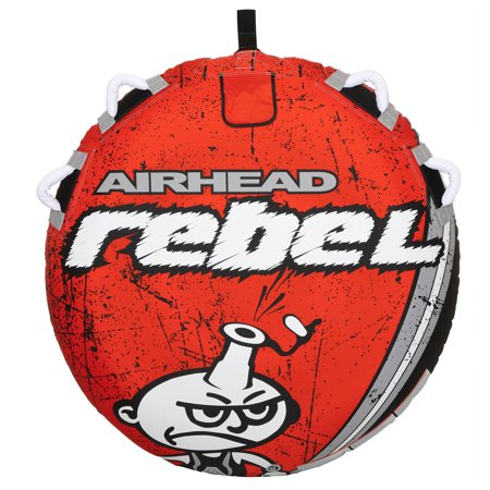 Airhead Rebel 1 Person Towable Tube Kit w/ Airhead 60-Foot Towable Rope Ball - image 2 of 12