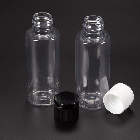 65529ddcf72b 2oz Bottles - 12-Pack Clear Plastic Squeeze Bottles, Empty Containers with  Flip Caps, Great as Travel Containers, Hand Sanitizer Bottles, Black and ...