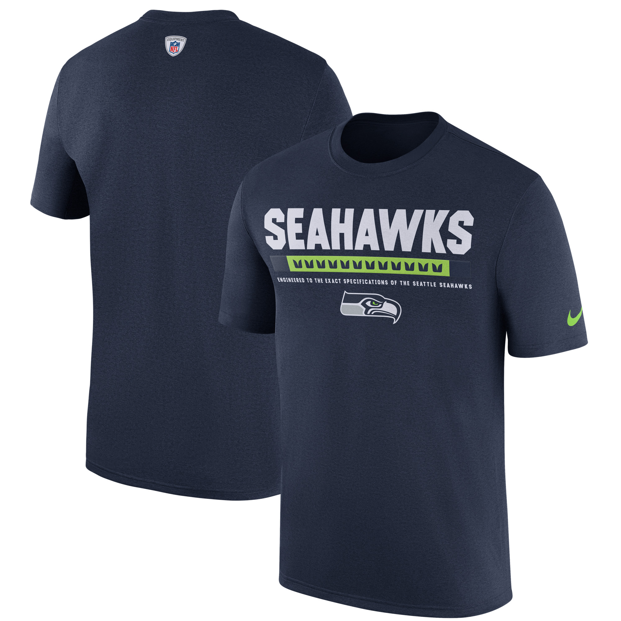 71c707b4697 Seattle Seahawks Nike Sideline Legend Staff Performance T-Shirt - College  Navy - Walmart.com