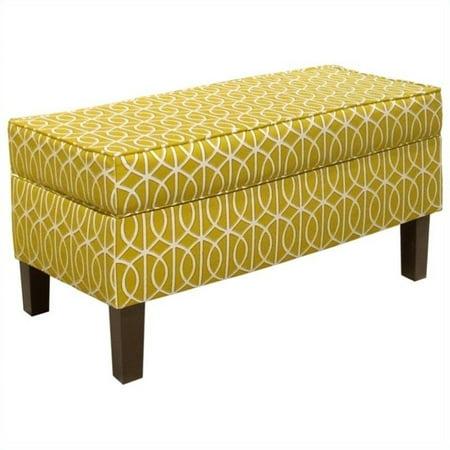 Excellent Skyline Furniture Storage Bench In Citrine Spiritservingveterans Wood Chair Design Ideas Spiritservingveteransorg