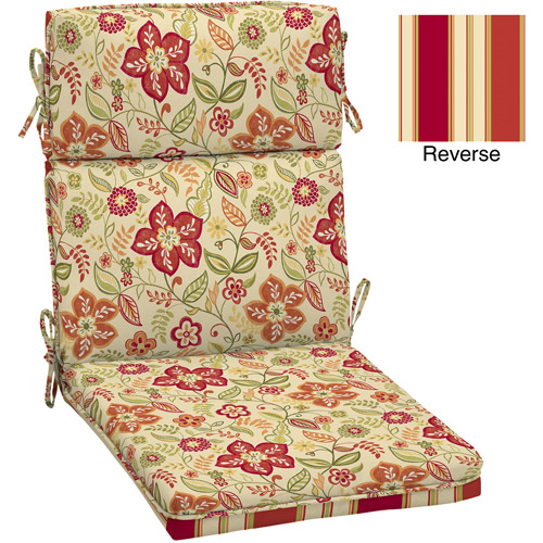 Better Homes and Gardens Dining Chair Outdoor Cushion, Pure Floral