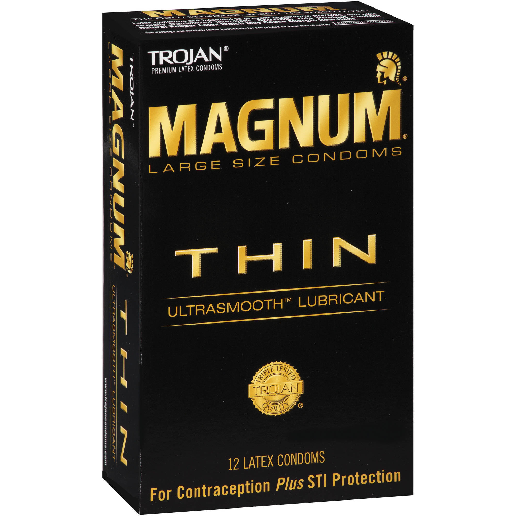 Trojan Magnum Thin Latex Condoms, 12 count