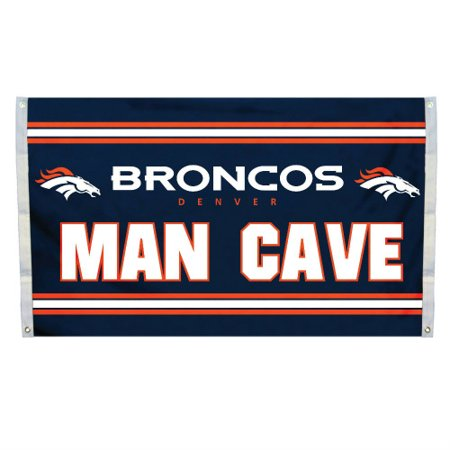NFL Denver Broncos Man Cave Flag