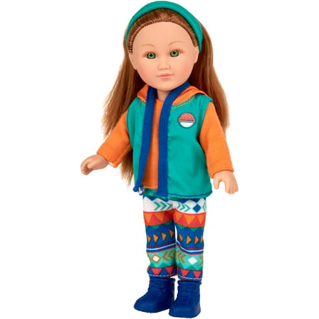 "My Life As 7"" Mini Poseable Outdoorsy Girl Doll, Red Hair"