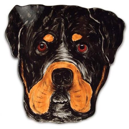 Pavilion 10 Rescue Me Now Ceramic Rottweiler Dog Dinner Plate