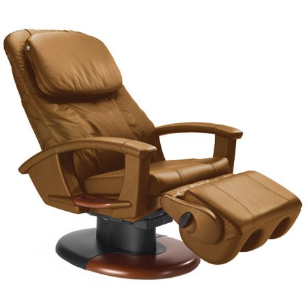 Human Touch HT135 cappuccino leather refurbished massage chair - Including Groung Curbside - Human Touch Leather