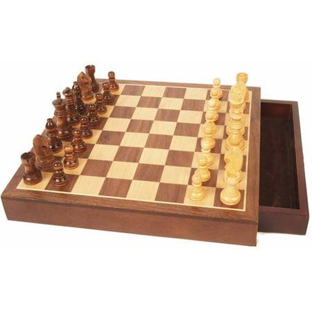 16 Wood Chess - Walnut Wood Chess Set