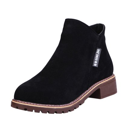 Women Ankle Boots Short Martin Boots Chunky Heels Boots Female Fashion Shoes - image 10 of 10