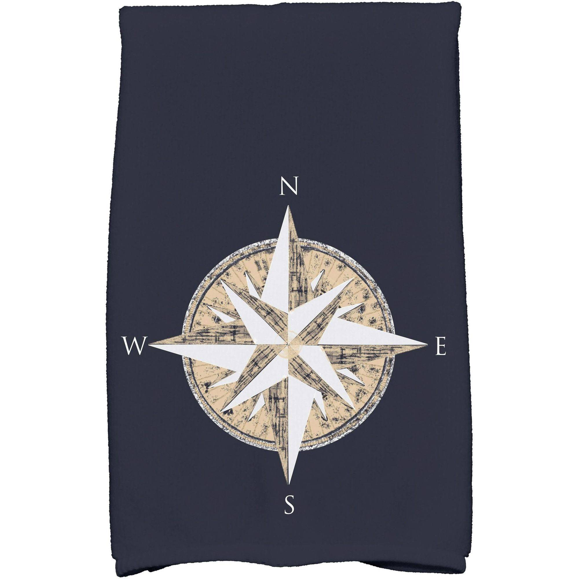 "Simply Daisy 16"" x 25"" Compass Geometric Print Kitchen Towel"