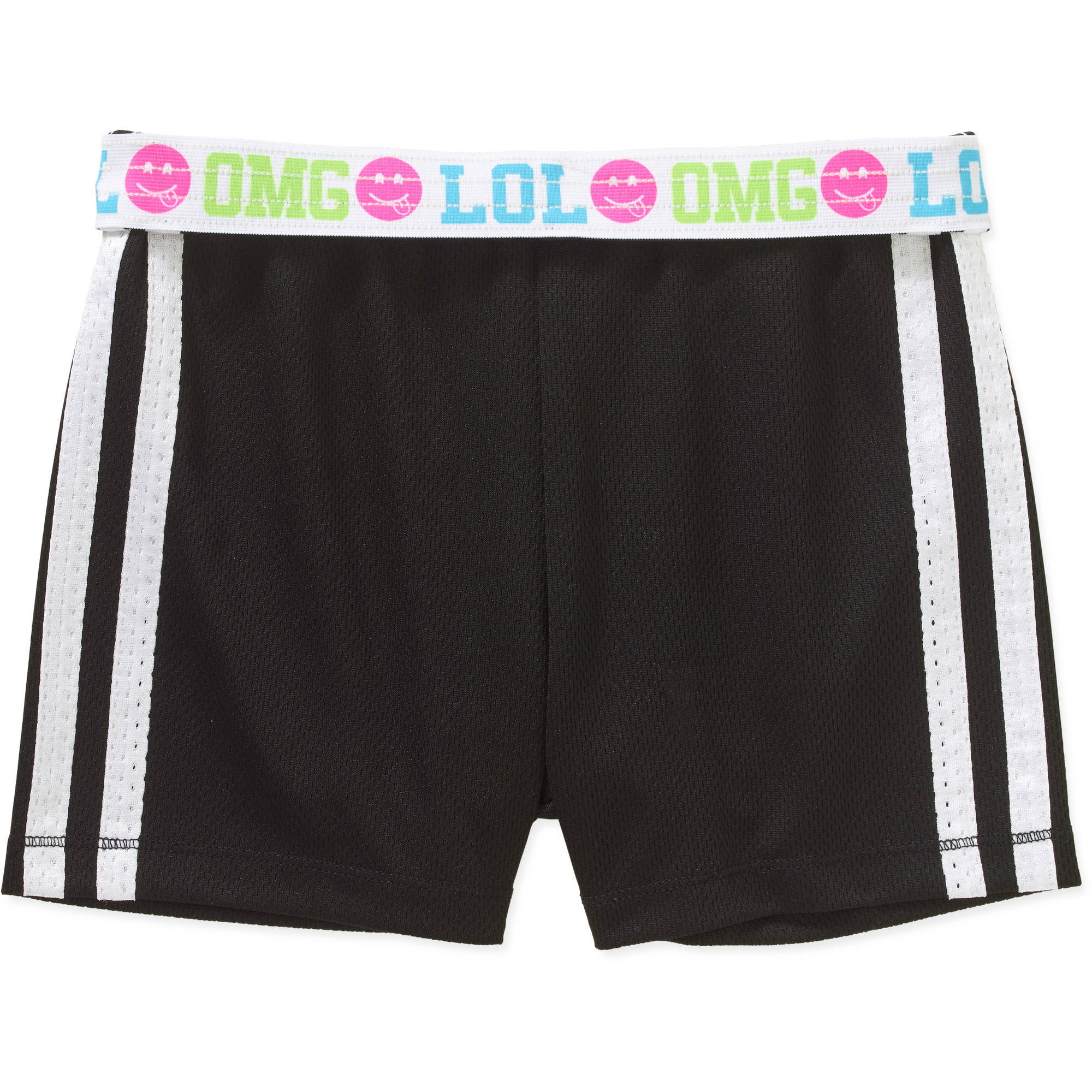 Girls' Faded Glory Solid Mesh Shorts