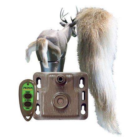 Motion Decoy (Primos Hunting Waggin' Whitetail Remote Control Motion Tail Deer Decoy  )