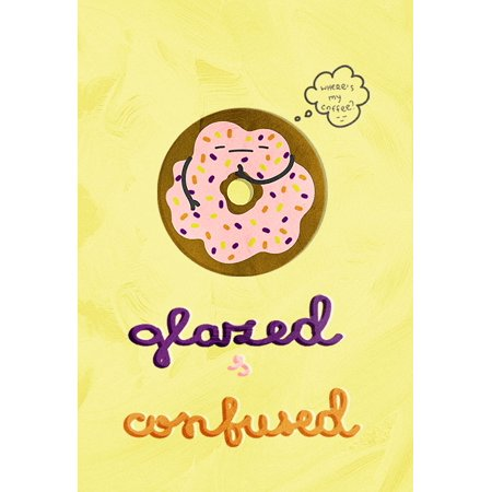 Glazed Confused Kitchen Pun Art Wall Decor Prints Poster