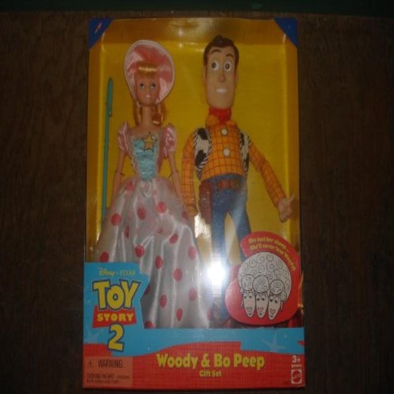 Mattel Disney TOY STORY 2 WOODY & BO PEEP Gift Set