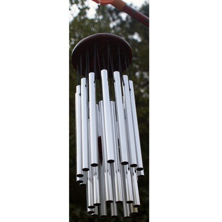 27 Tubes Silver Tube Church Wind Chimes Outdoor Bells Hanging Decorations