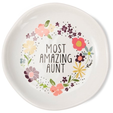 Pavilion - Most Amazing Aunt Mini Jewelry Dish with Beautiful Gift - Amazing Jewelry